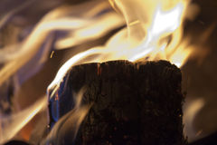 Wood embers detail Royalty Free Stock Photos