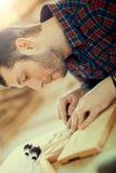 Wood engraving Royalty Free Stock Photos
