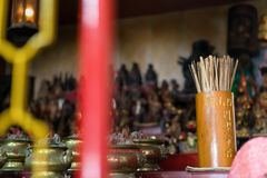Wood Esiimsi at Chinese Temple. Phuket, Thailand - August 22, 2015 : Wood Esiimsi is Chinese religion culture to tell about human horoscope in a Chinese Temple Stock Image