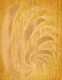 Wood etching Royalty Free Stock Image