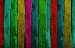 wood färgrika plankor Fotografering för Bildbyråer