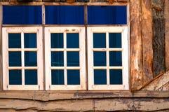 wood fönster Royaltyfri Foto
