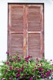 Wood fönster Royaltyfri Fotografi