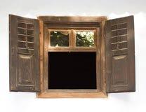 Wood fönster Royaltyfria Foton