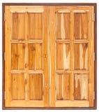 Wood fönster, abstrakt texturbakgrund Royaltyfri Bild