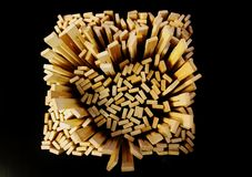 Wood förälskelse Arkivfoto