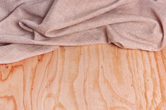 Wood and fabric background Stock Image