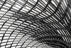 Wood and Fabric Roof Structure Stock Image