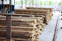 Wood fabrik Arkivbild
