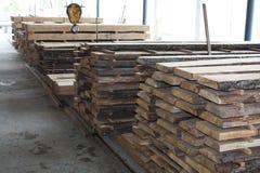 Wood fabrik Royaltyfri Fotografi