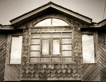 Wood facade Stock Images