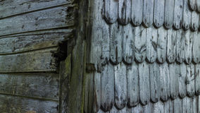 Wood facing in Iceland Royalty Free Stock Photo