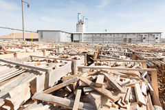 Wood factory Stock Image