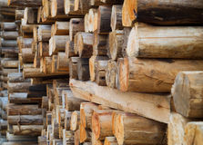 Wood in factory warehouse Stock Image