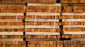 Wood in factory warehouse Royalty Free Stock Photos