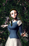 Wood fairy. A wood fairy in 3d Royalty Free Stock Photo