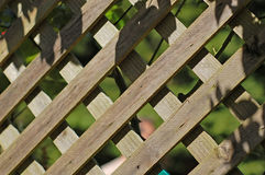 Wood Fence. Fence with shadows Stock Photo