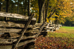 Wood Fence in Autumn Stock Images