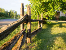 Wood fence. Beautiful wooden fence that was laid at sunset Royalty Free Stock Photos