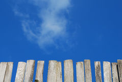 The wood fence Stock Photography