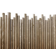 Wood Fence Borderon White Background. A wood fence border is on a white isolated background. Use the photo as a construction or defense image Royalty Free Stock Images