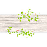 Wood fence with branches Royalty Free Stock Photos