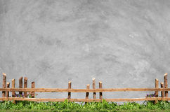 Wood fence and concrete Royalty Free Stock Photos