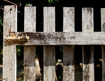 Wood fence door Royalty Free Stock Images