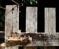 Wood fence door Stock Image