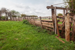 Wood Fence Farm Rio Grande do Sul Stock Images
