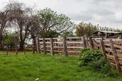 Wood Fence Farm Rio Grande do Sul Royalty Free Stock Photography