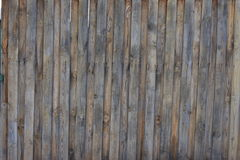 Wood fence fence with mounting screws using wood Stock Photo
