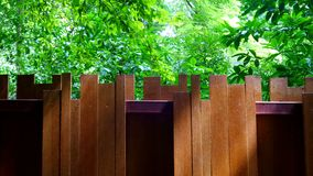 wood fence at forest Royalty Free Stock Image