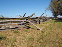Wood fence in Gettysburg. Simple wood fence near the battlefield in Gettysburg Pennsylvania Royalty Free Stock Photography