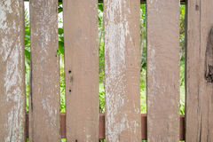 Wood Fence of the house Royalty Free Stock Photo