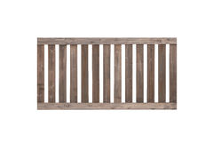 Wood fence isolated on white background. Wood fence , Brown wood frence Royalty Free Stock Photography