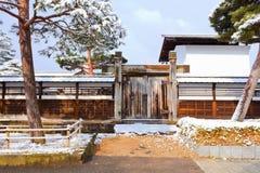 Wood Fence of a Japanese House Stock Photos