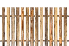Wood fence made from old planks Stock Photo