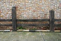 Wood fence of mountain in Hatyai Royalty Free Stock Photo