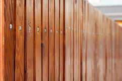 Wood fence. New wood fence in detail mode Stock Images