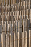 Wood fence pattern. Detail on a series of wood fences, creating appealing patterns Stock Image