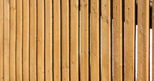 Wood fence perspective view closeup Stock Images