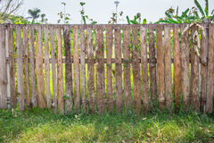 Wood Fence protect private land. Stock Image
