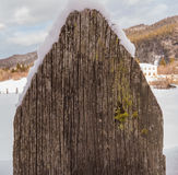 Wood fence Stock Image