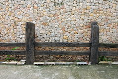 Wood fence and wall in Hatyai Royalty Free Stock Image