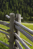 Wood fences in the Alps. Old wooden fence in Italy stock photography