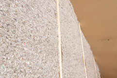 Wood fiber insulation boards. Attic walls being insulated with wood fiber insulation Stock Images