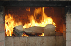 Wood and fire Royalty Free Stock Images