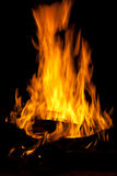 Wood fire. Burning wood fire with flames Royalty Free Stock Photography