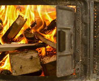 A wood fire for the chimney. A fire of wood for the fireplace stock images